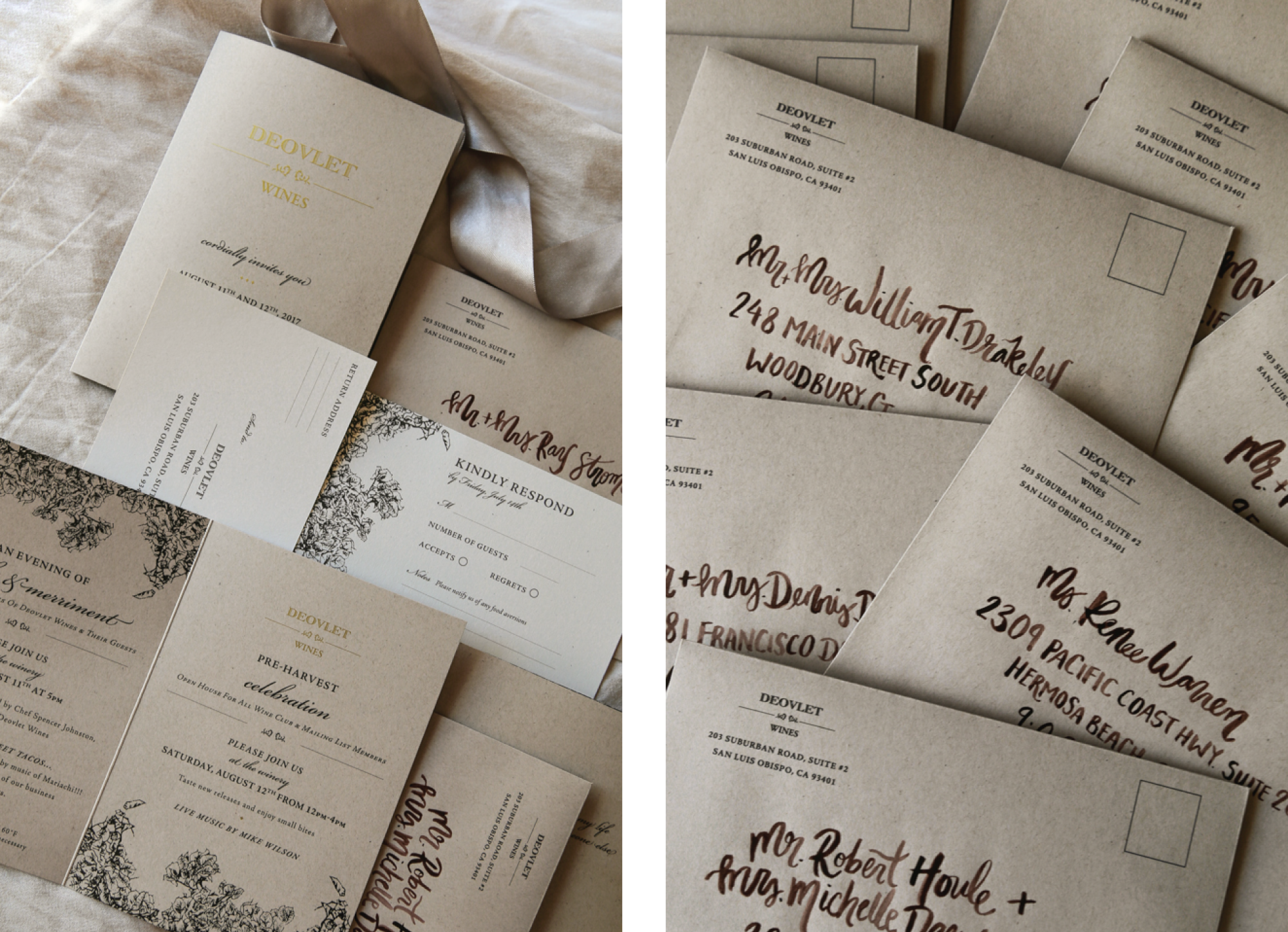 Custom Event Invitation and Stationery Design San Diego, California