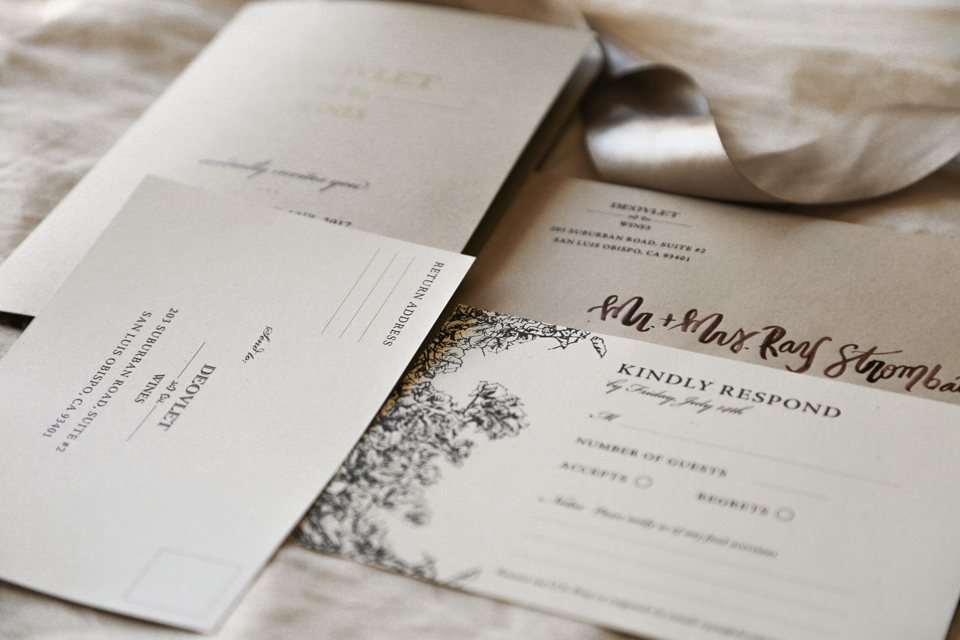 Amarie Design Co. Custom Invitation Suite Design